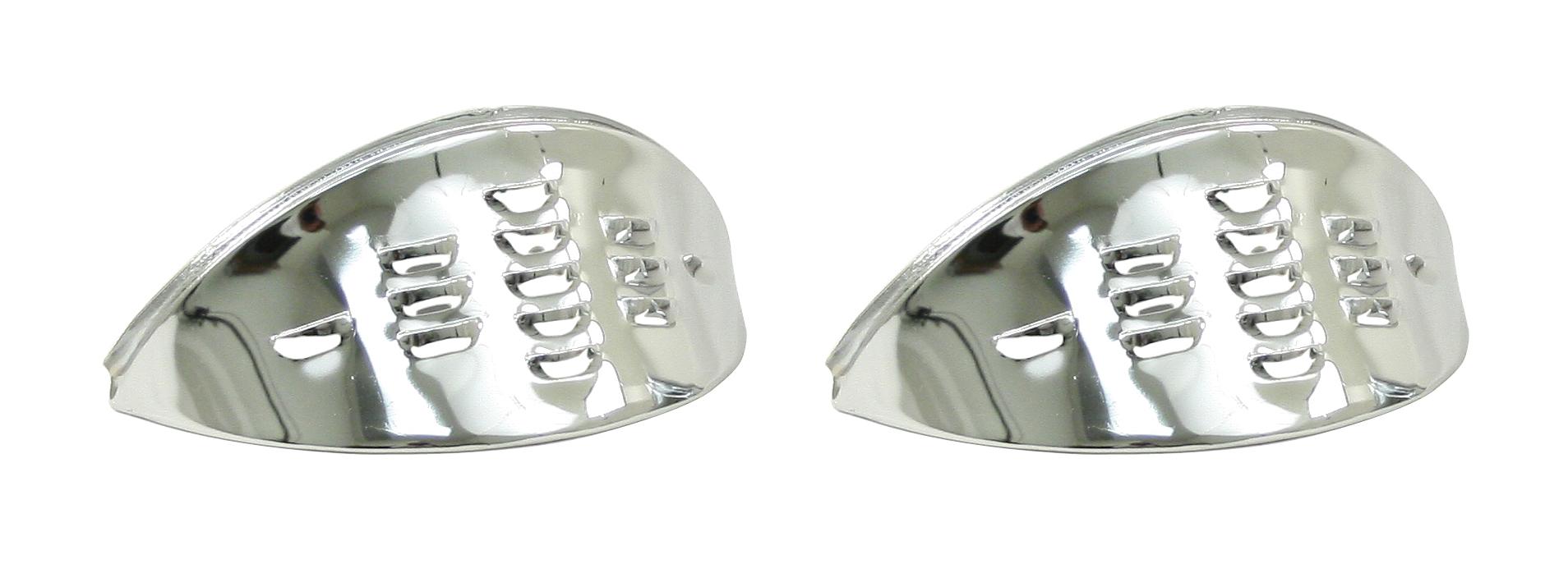 Headlight Eyebrow, Chrome, Louvered, Pair - ACCC103371