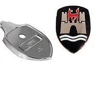 Hood Crest W-Mount Plate, Black - 113853902