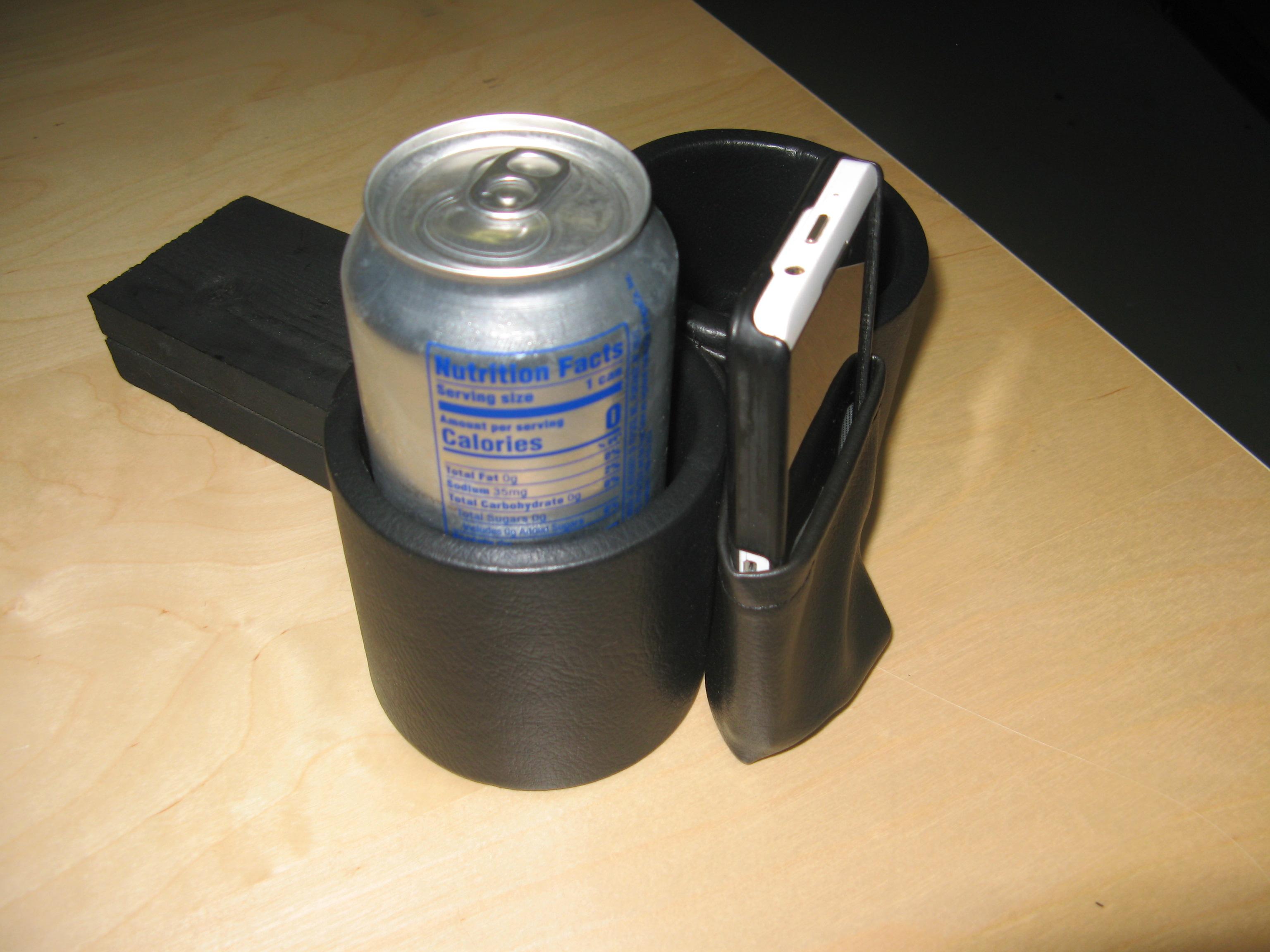 Cup & Phone  Holder Ghia 67-69 - VWGHIA6769PC-BK