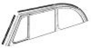 Side Window To Top Frame Seal, L/R, Set, 6 Pcs - 151837357C