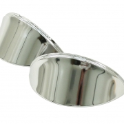 Headlight Eyebrow, Chrome, Smooth, Pair - ACCC103370