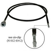 Speedometer Cable 1225mm Use W C Clip - 111957801J