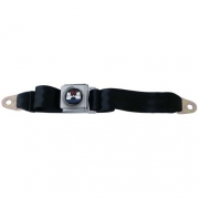 2 Point Lap Belt Front Or Rear, Black w/Crest Emblem, Each - 26-857-003L