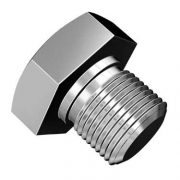 Pulley Bolt W 111-105-259 Spring Washer - Chrome - 111105263A